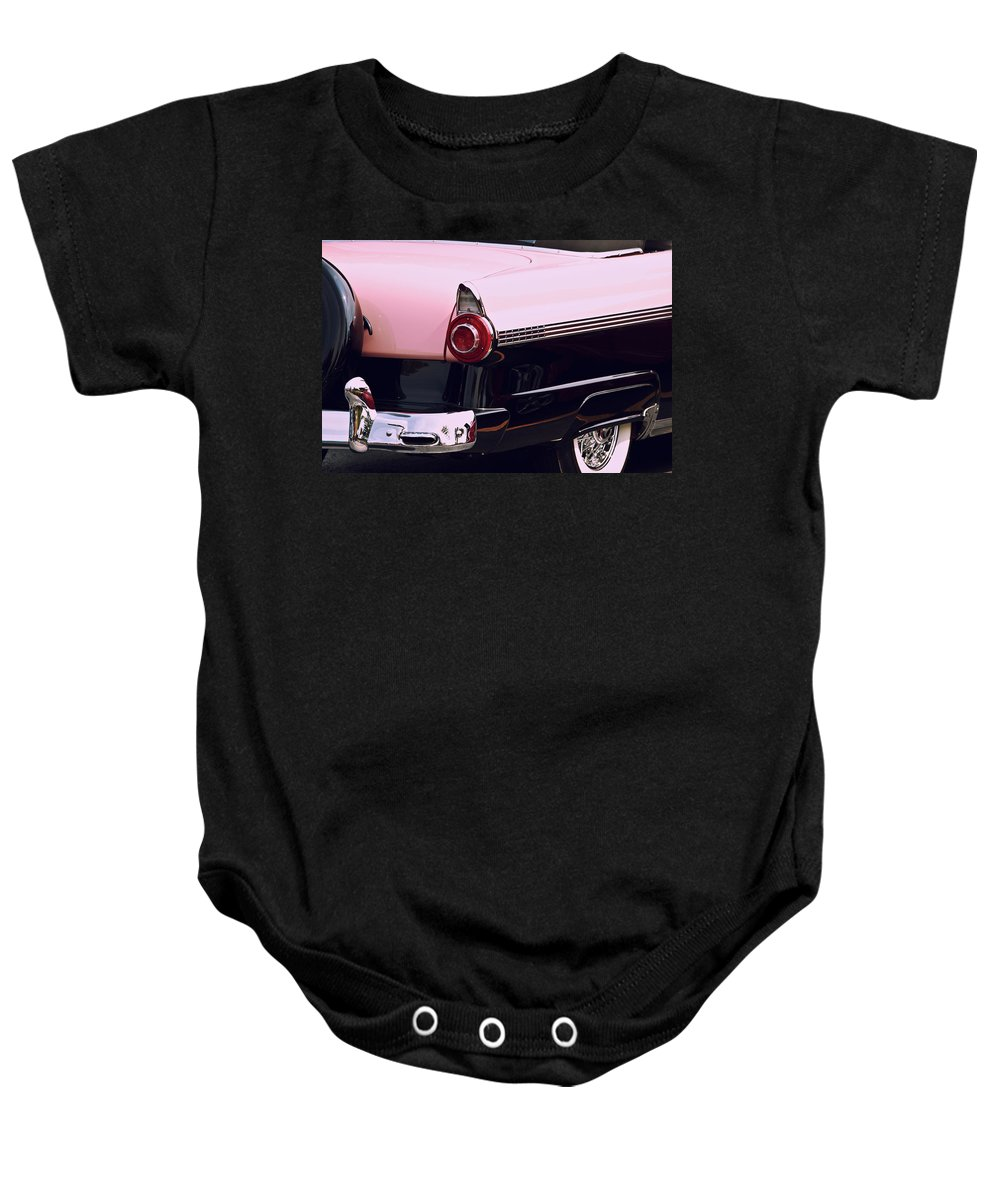 Classic Car Baby Onesie featuring the photograph In The Pink by Lauri Novak