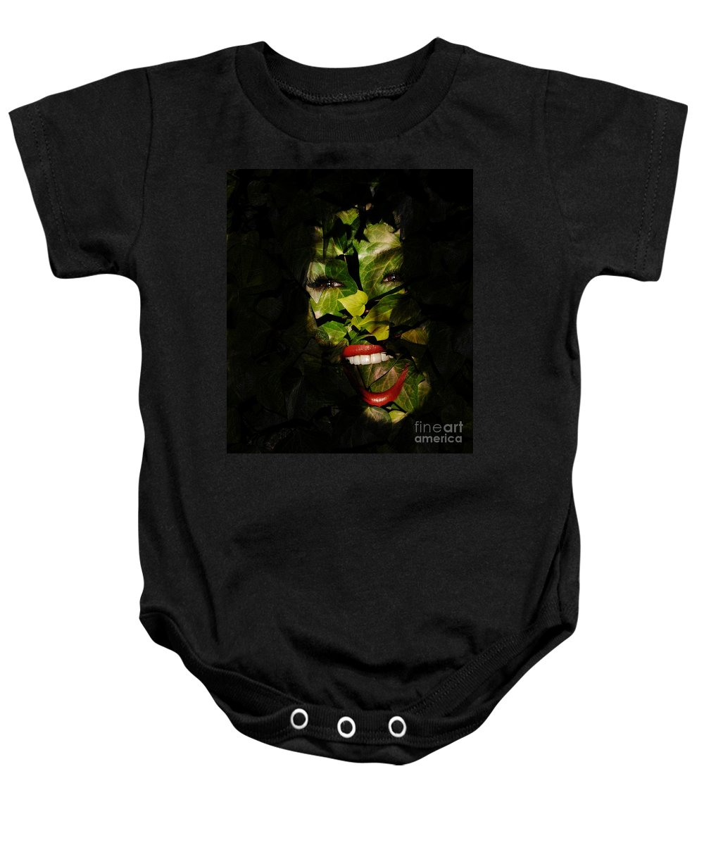 Clay Baby Onesie featuring the photograph Ivy Glamour by Clayton Bruster