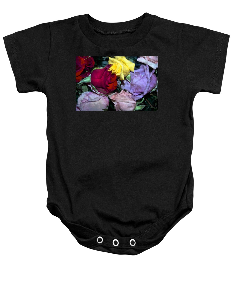 Rose Baby Onesie featuring the photograph Look Of Romance by Angelina Vick