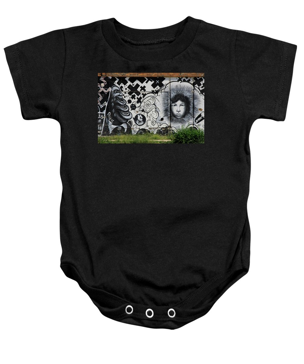 Landscape Baby Onesie featuring the photograph Motor City Building Art by Dennis Pintoski