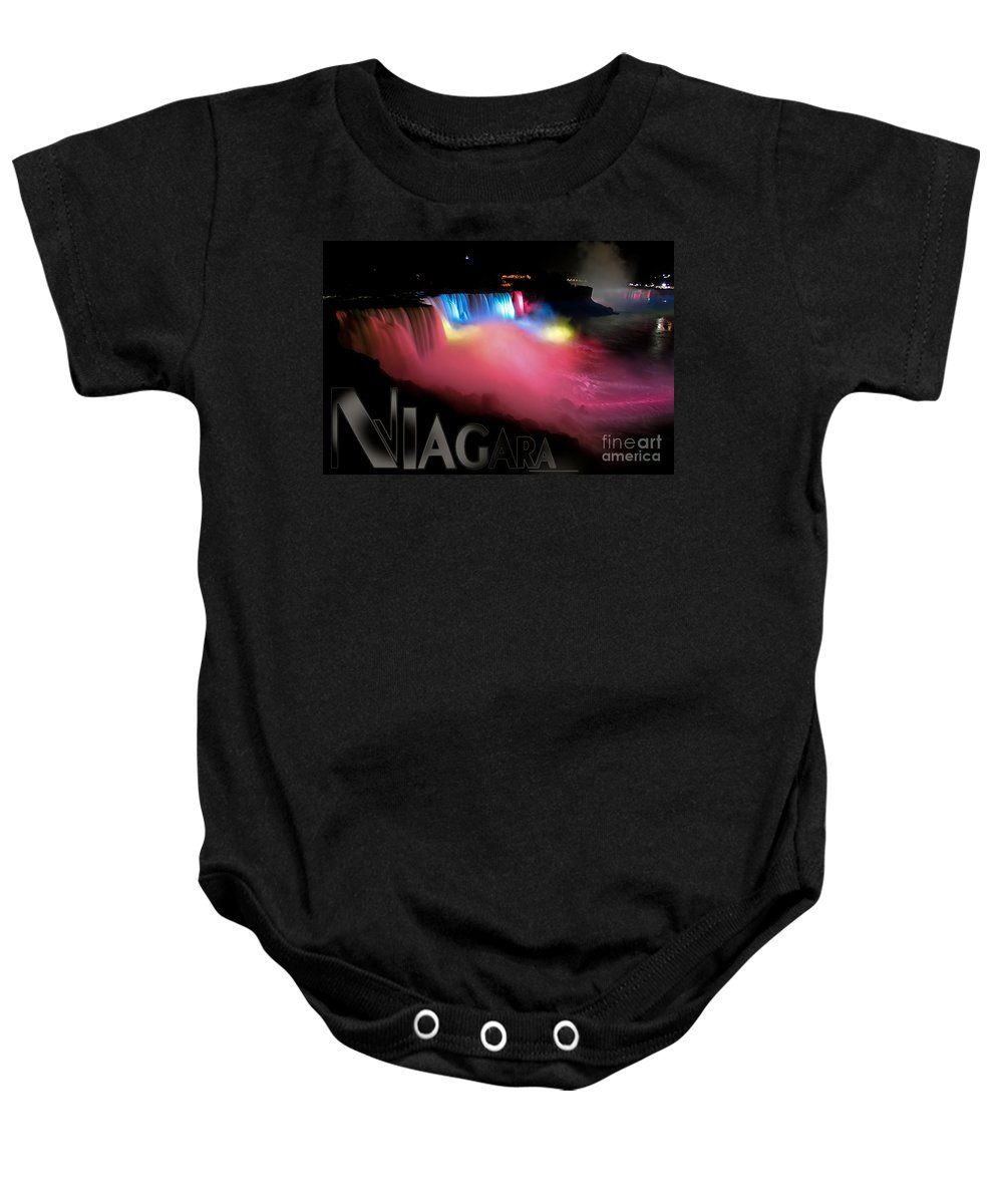 Niagara Falls Baby Onesie featuring the photograph Niagara Falls Postcard by Syed Aqueel