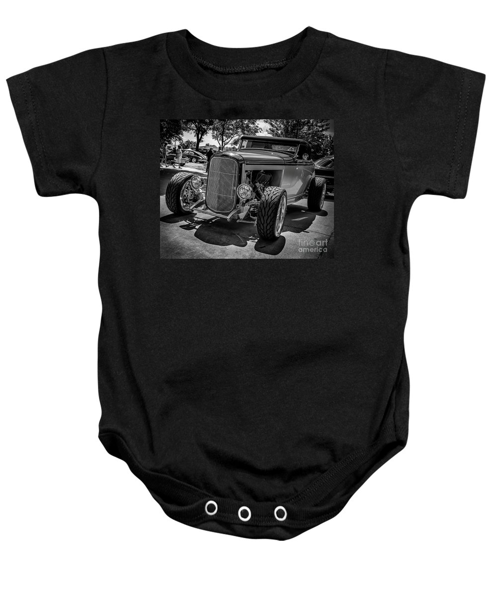 Car Baby Onesie featuring the photograph Parked Classic by Perry Webster