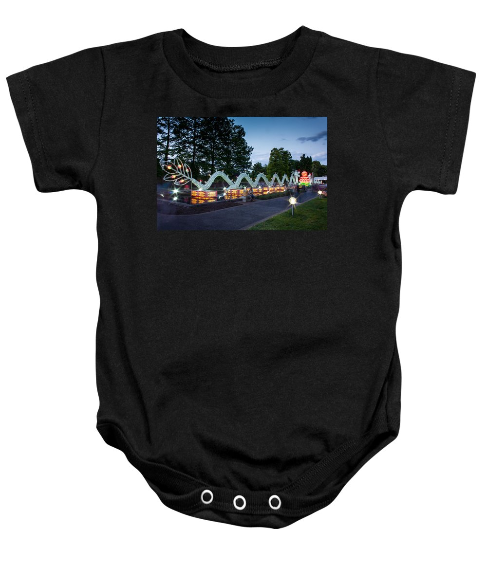 Art Baby Onesie featuring the photograph Porcelain Dragon by Semmick Photo