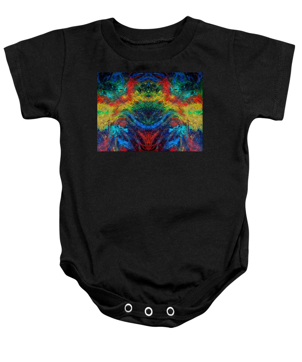 Digital Baby Onesie featuring the painting Primary Abstract IIi Design by Nancy Mueller