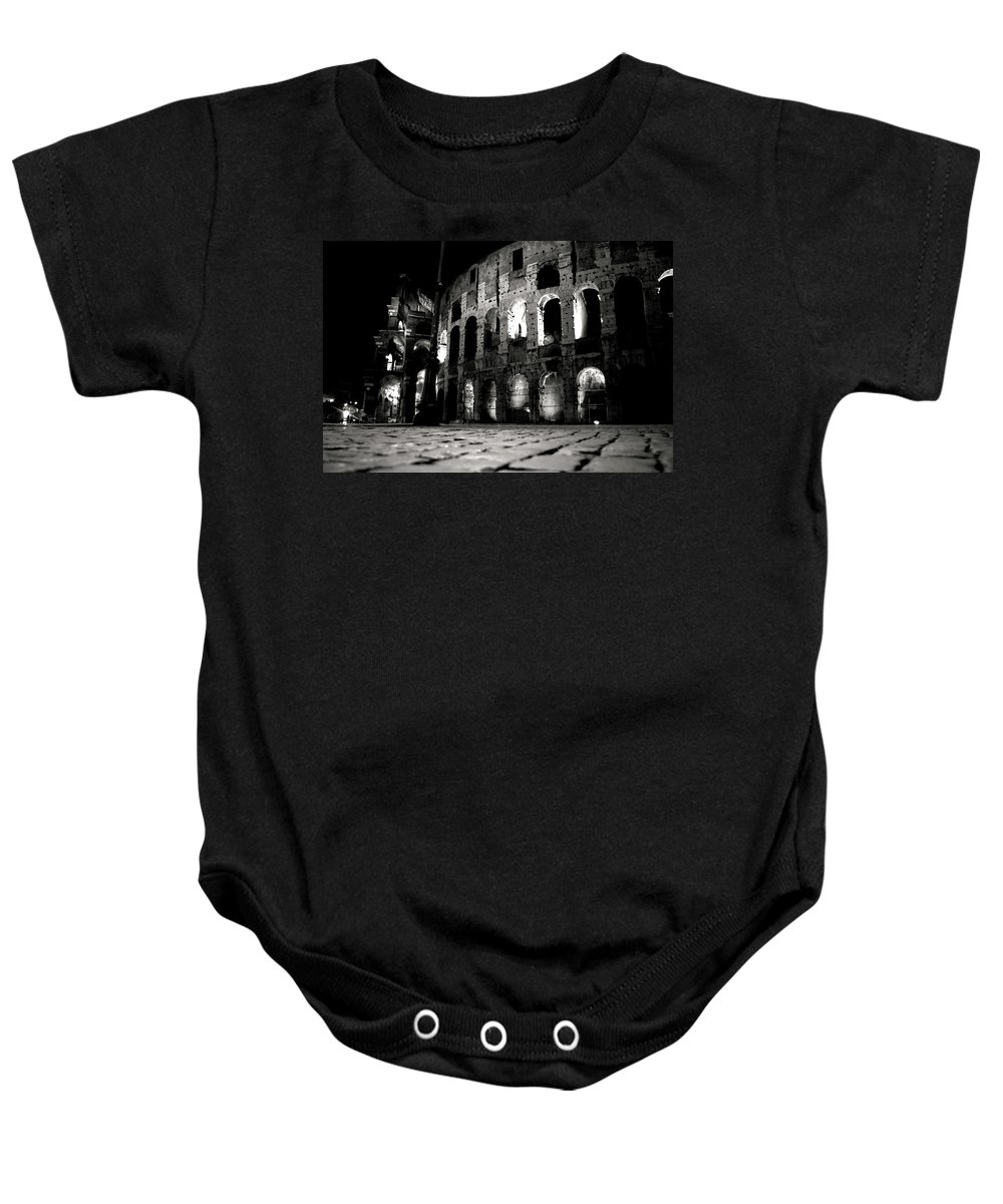Rome Baby Onesie featuring the photograph Roman Night by La Dolce Vita