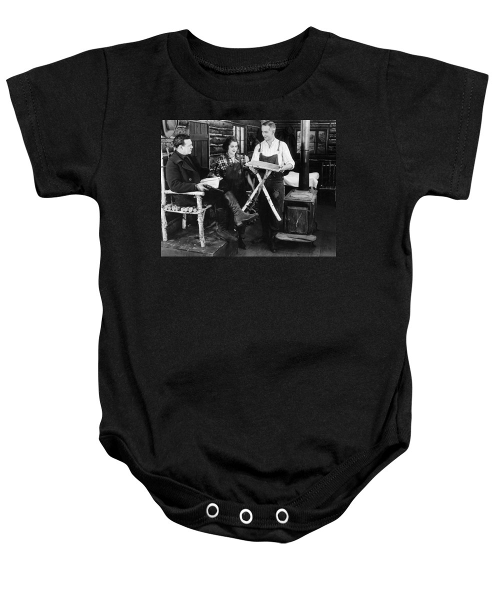 -ecq- Baby Onesie featuring the photograph Silent Still: Triangles by Granger