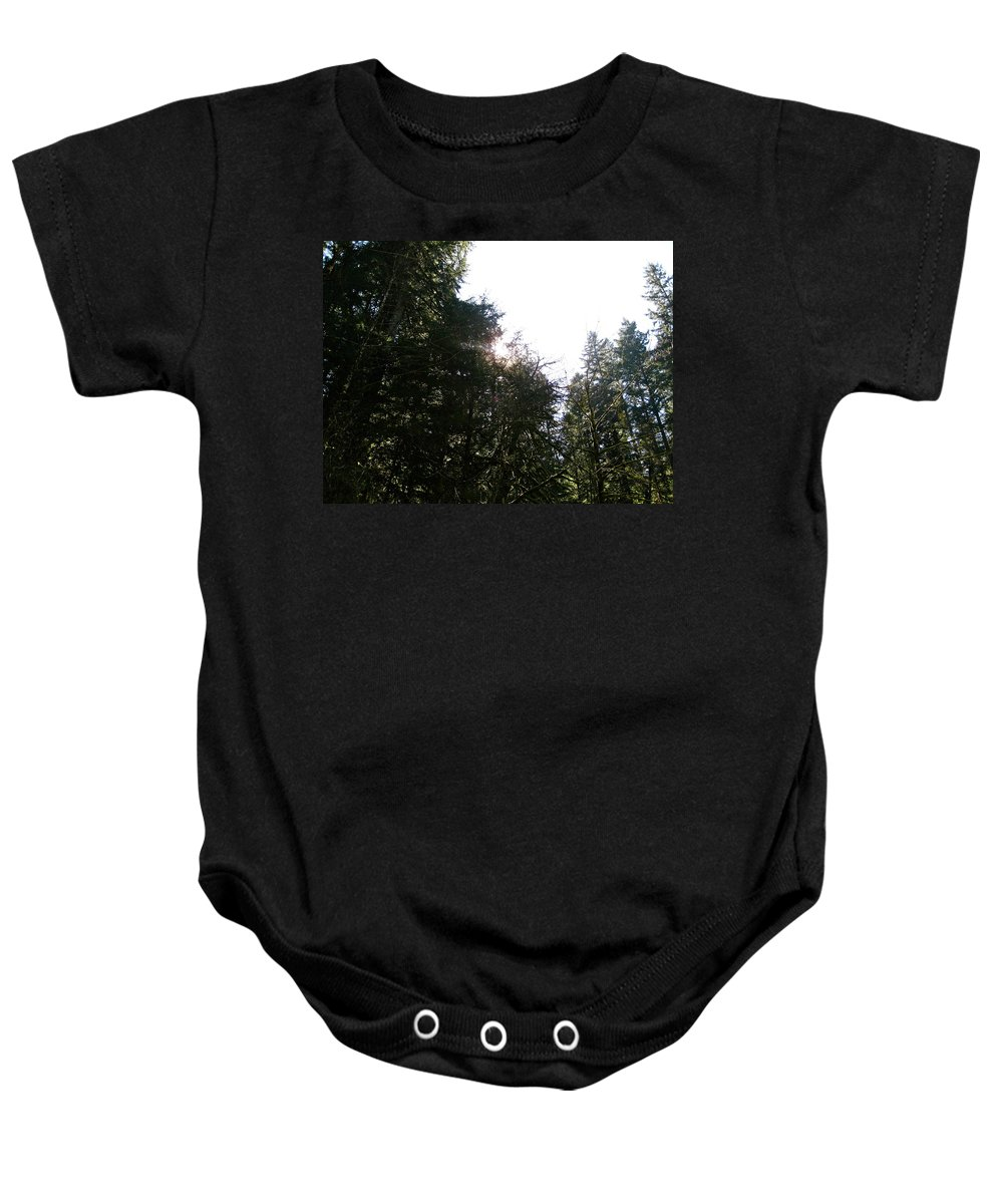 Sun Baby Onesie featuring the photograph Skyward by Linda Hutchins