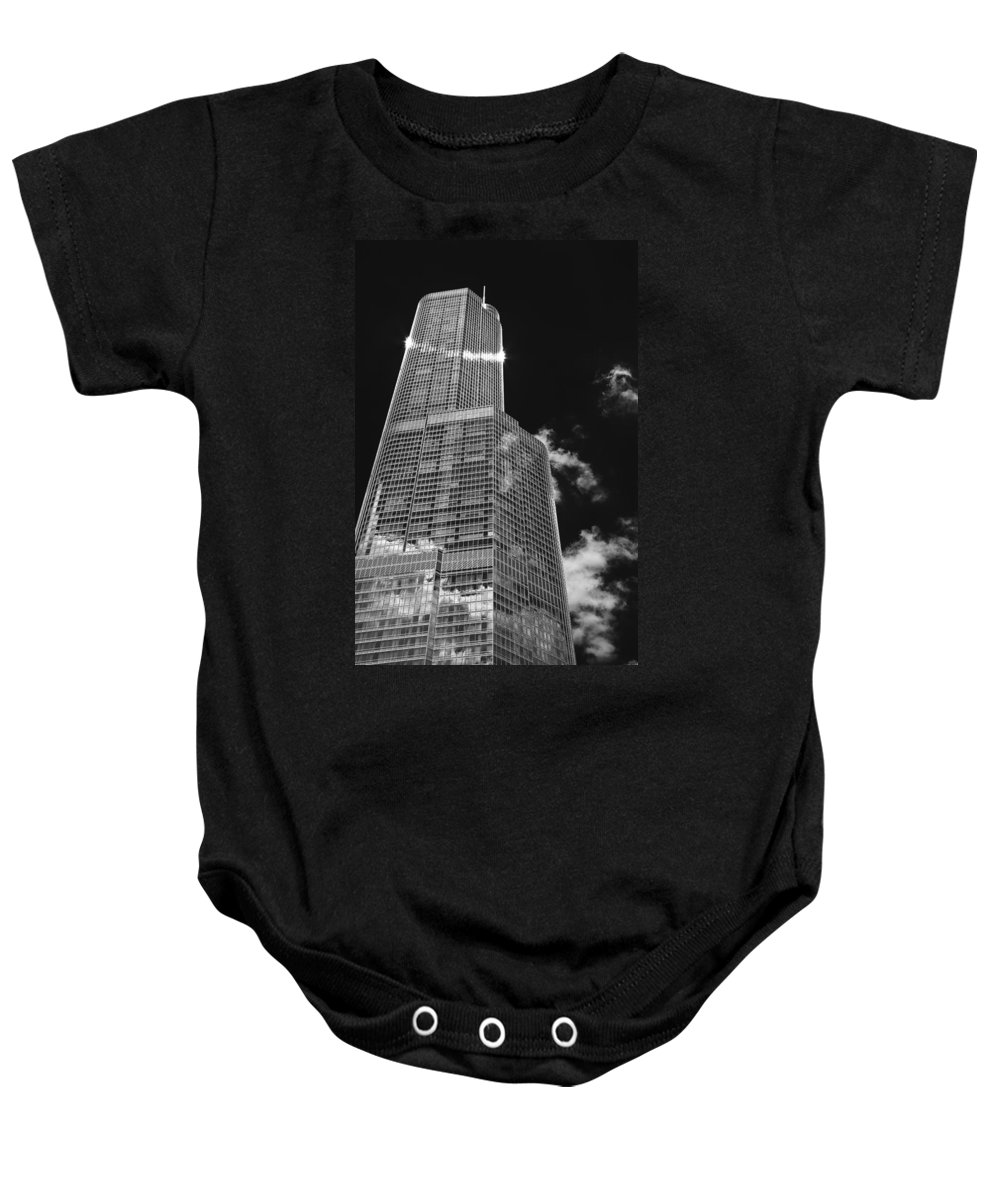 Architecture Baby Onesie featuring the photograph Smug by Tim Nault