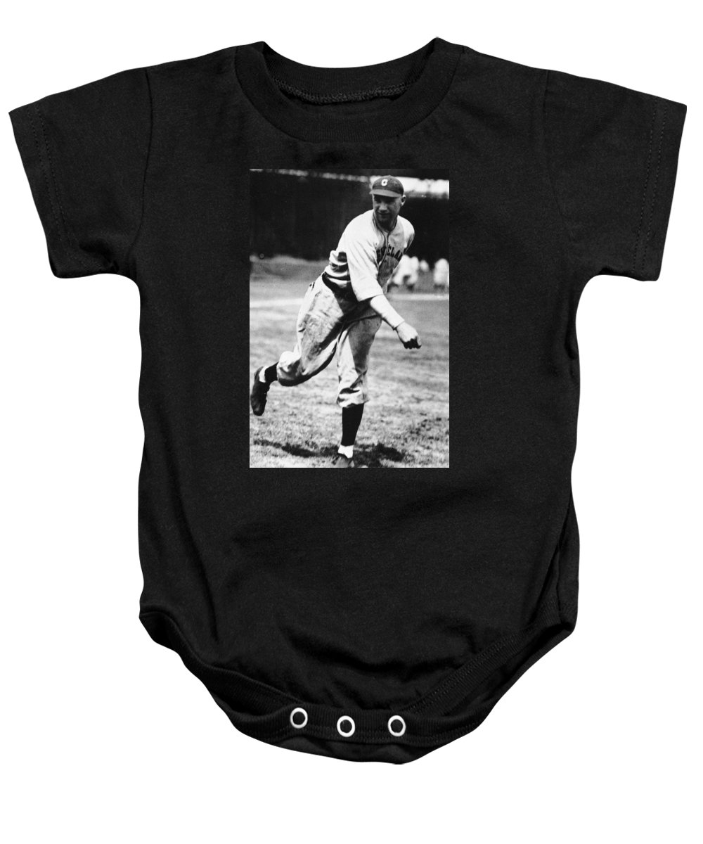 1920s Baby Onesie featuring the photograph Stan Coveleski (1889-1984) by Granger