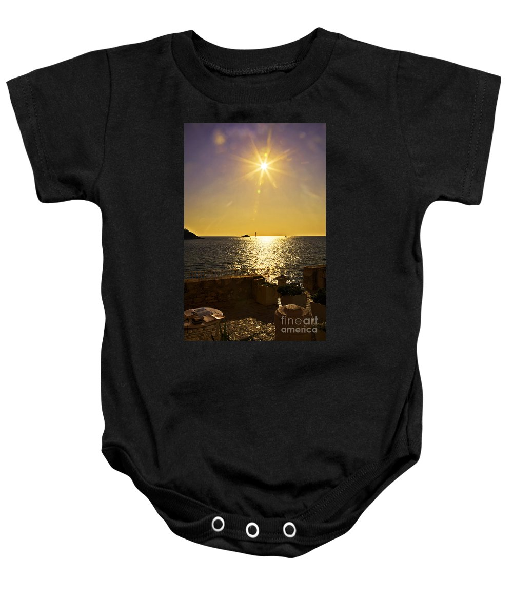 Terrace View Baby Onesie featuring the photograph Starburst Memories by Madeline Ellis