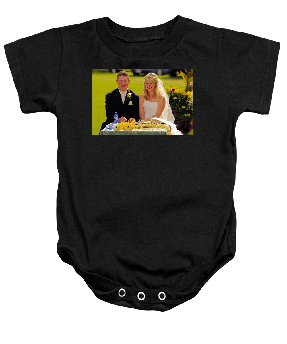 Toby Baby Onesie featuring the photograph T And T 39 by John Greaves