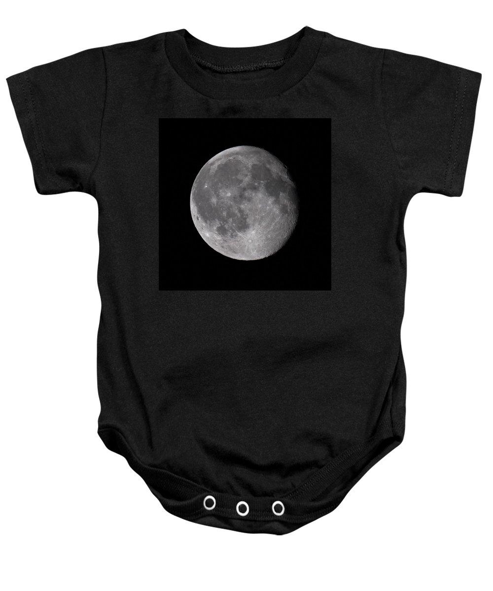 Lehtokukka Baby Onesie featuring the photograph The Old Moon by Jouko Lehto