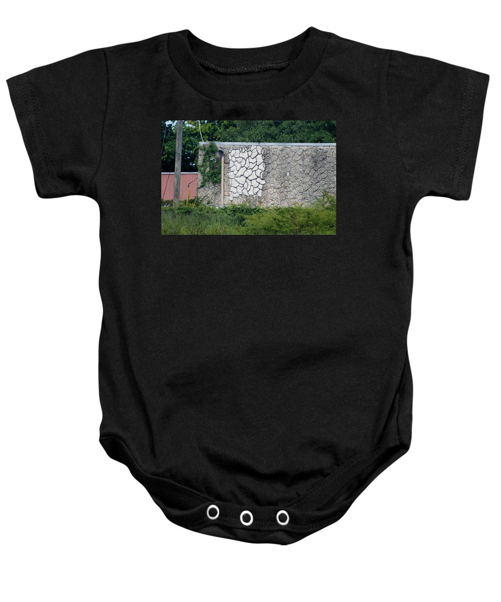 Grass Baby Onesie featuring the photograph The Wall by Rob Hans