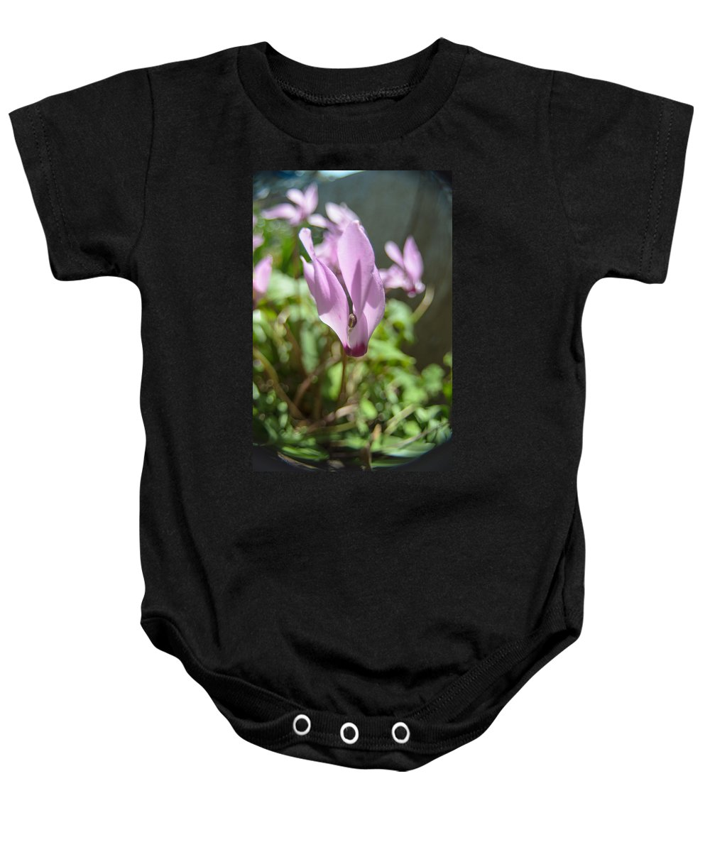 Alone Baby Onesie featuring the photograph Wild Cyclamen by Michael Goyberg