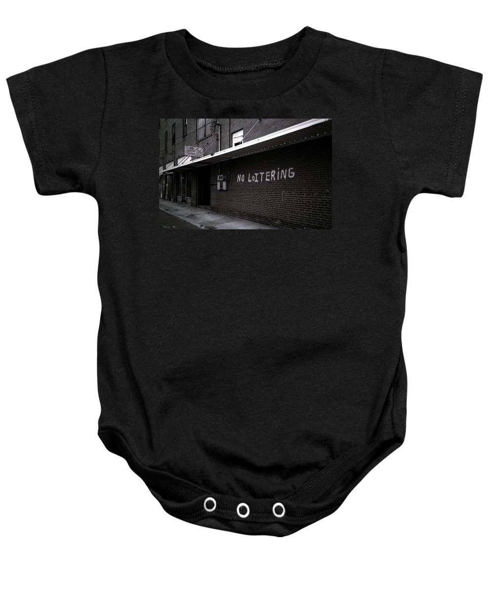 Louisiana Baby Onesie featuring the photograph 10th Street Social Club by Doug Duffey