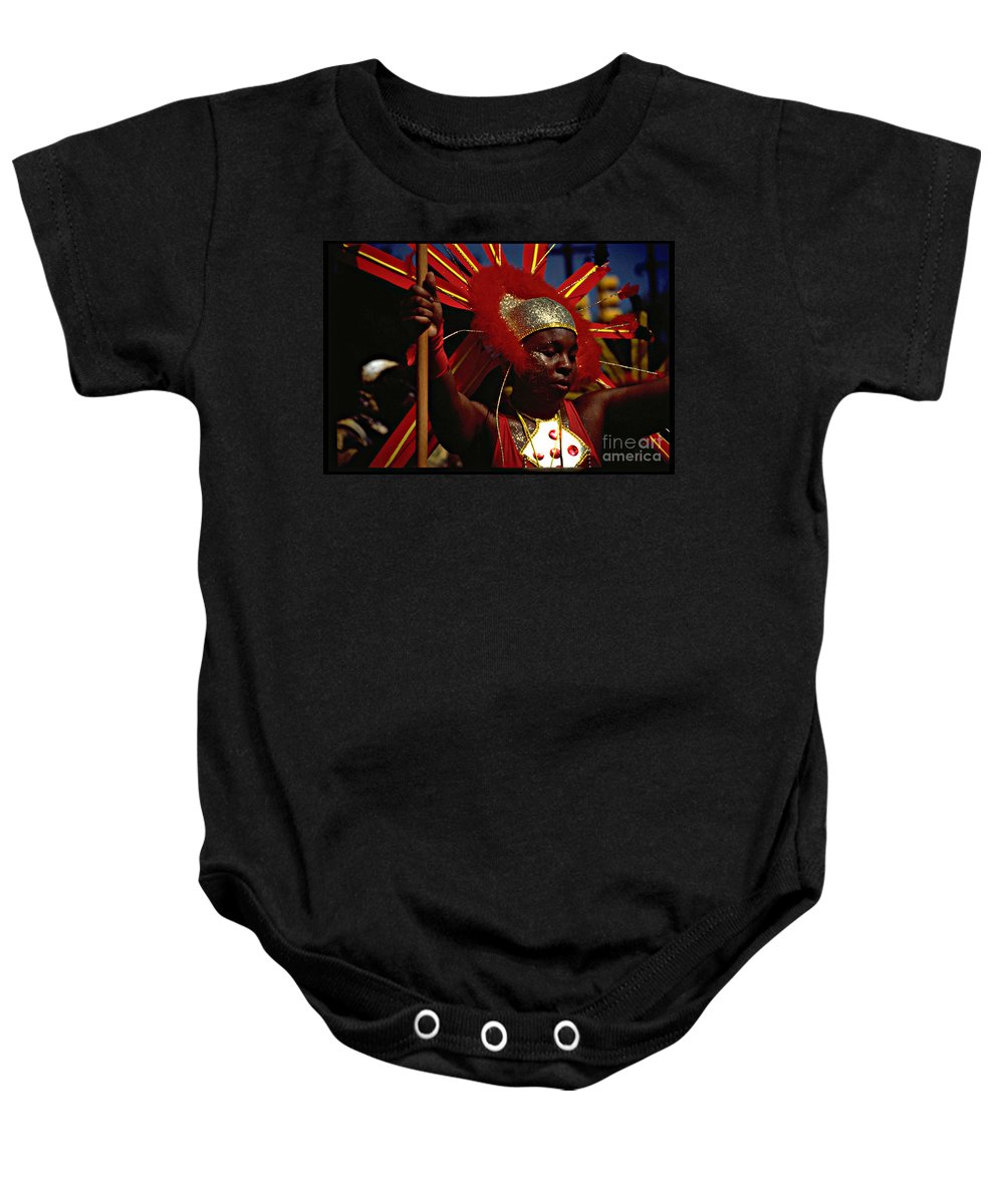 Parade Baby Onesie featuring the photograph West Indian Day Parade Brooklyn Ny by Mark Gilman