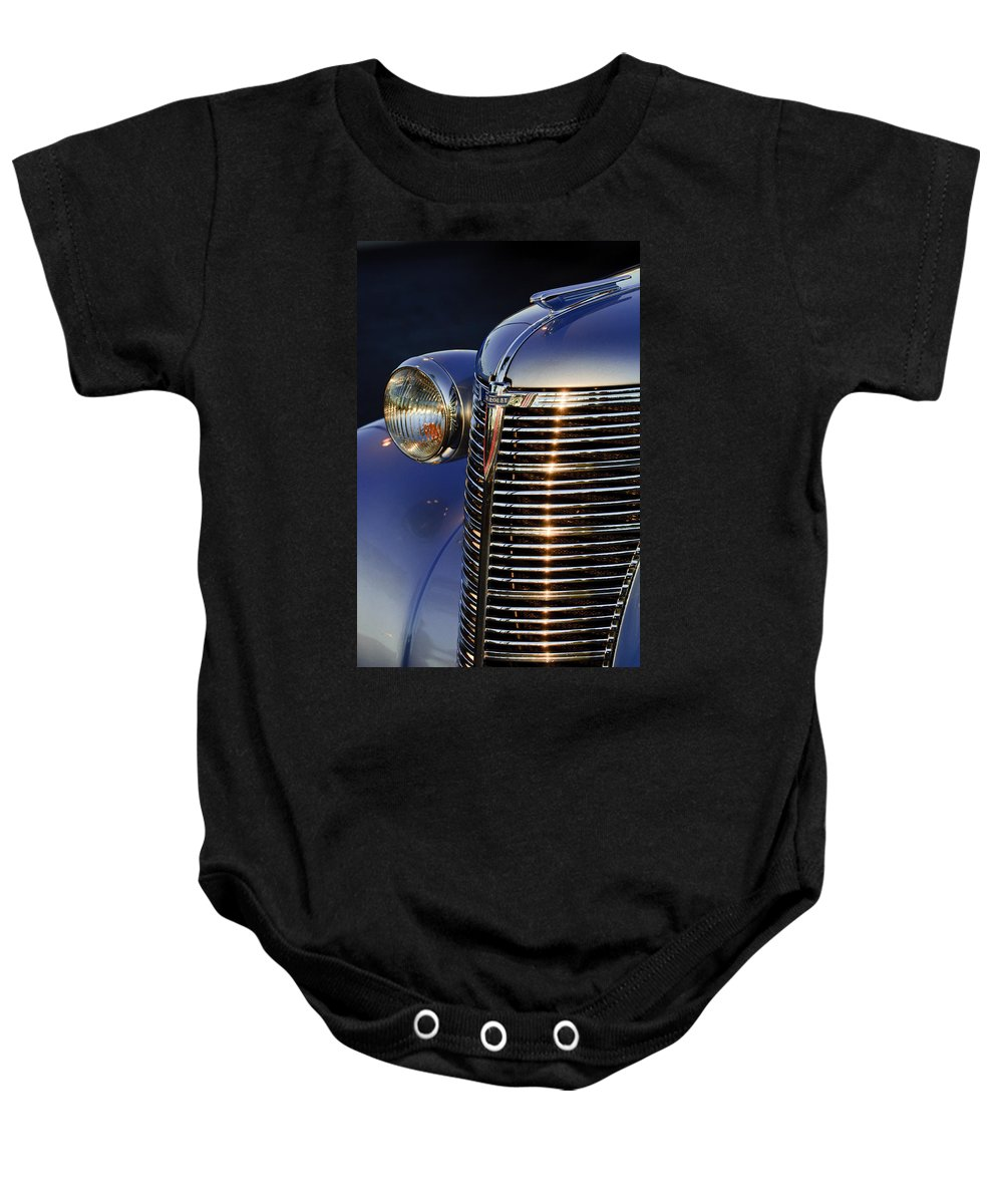 1938 Chevrolet Baby Onesie featuring the photograph 1938 Chevrolet Grille by Jill Reger