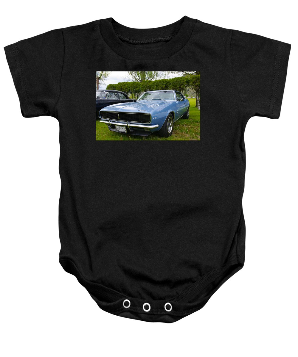 Chevrolet Baby Onesie featuring the photograph 1967 Camaro by John Greaves