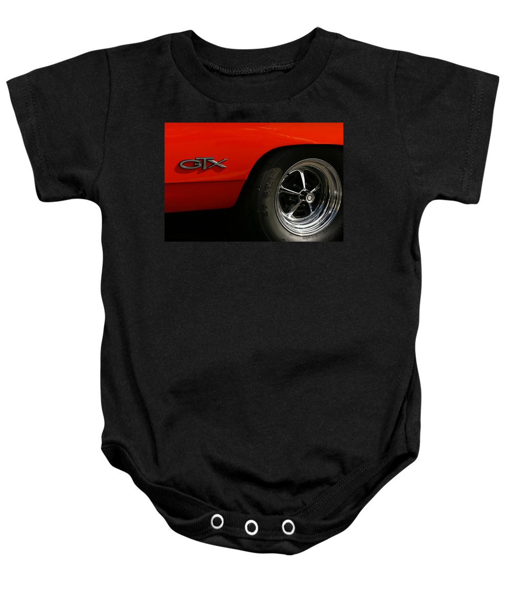1969 Baby Onesie featuring the photograph 1969 Plymouth Gtx Hemi by Gordon Dean II