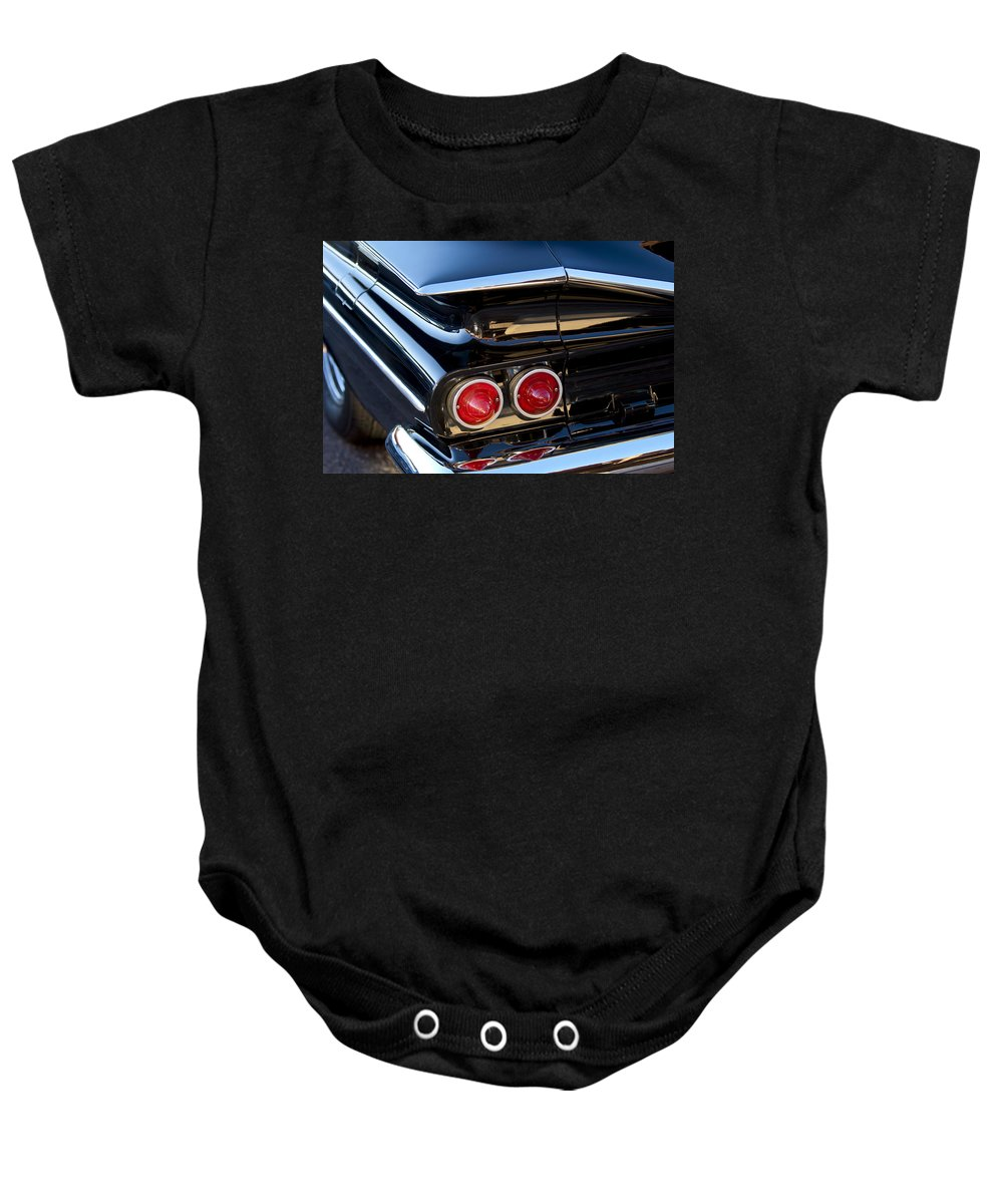 1959 Chevrolet El Camino Baby Onesie featuring the photograph 1959 Chevrolet El Camino Taillight by Jill Reger