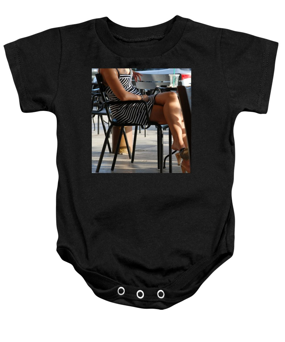 Women Baby Onesie featuring the photograph Stripped Dress by Rob Hans