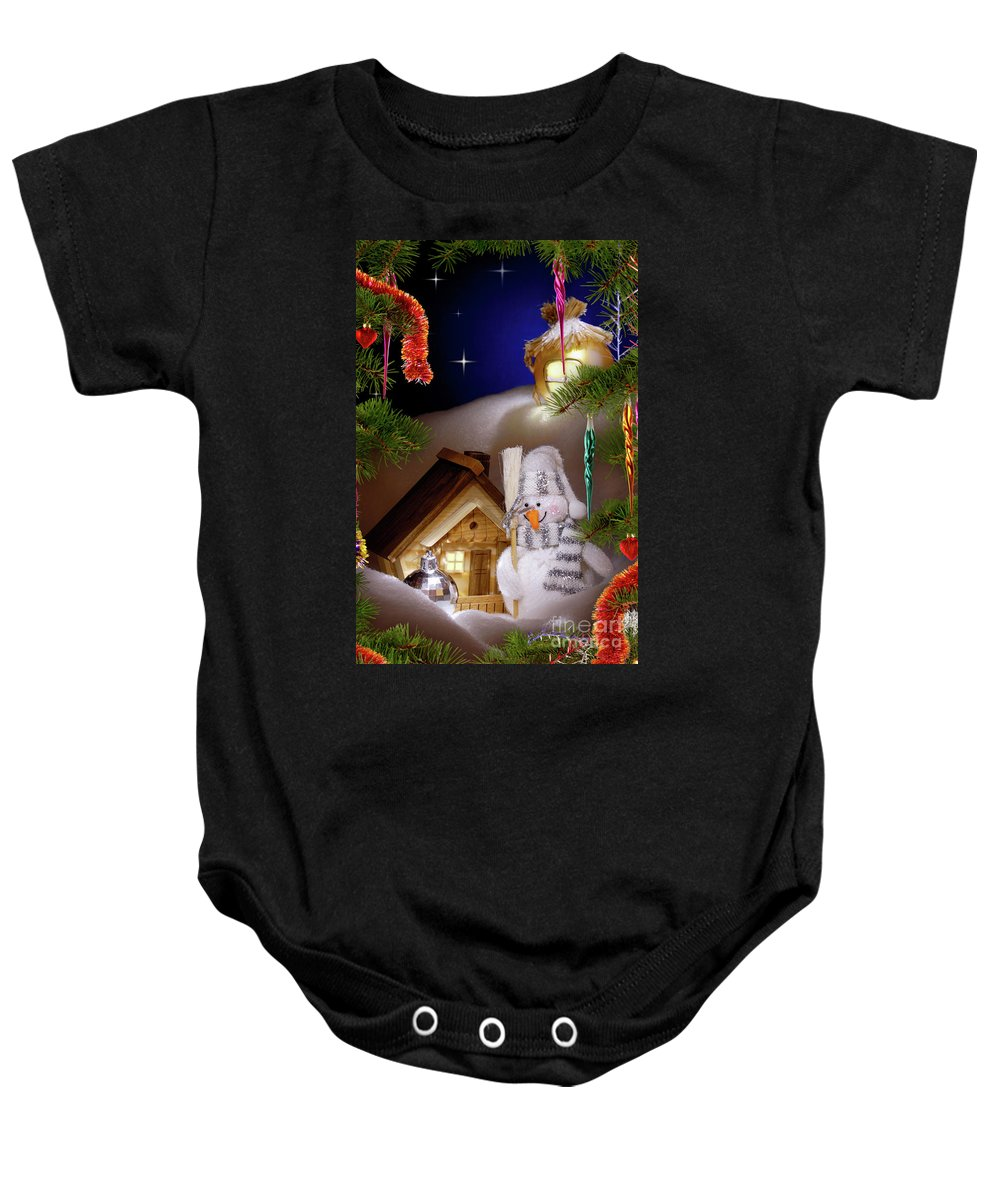 Christmas Baby Onesie featuring the photograph Wonderful Christmas Still Life by Oleksiy Maksymenko