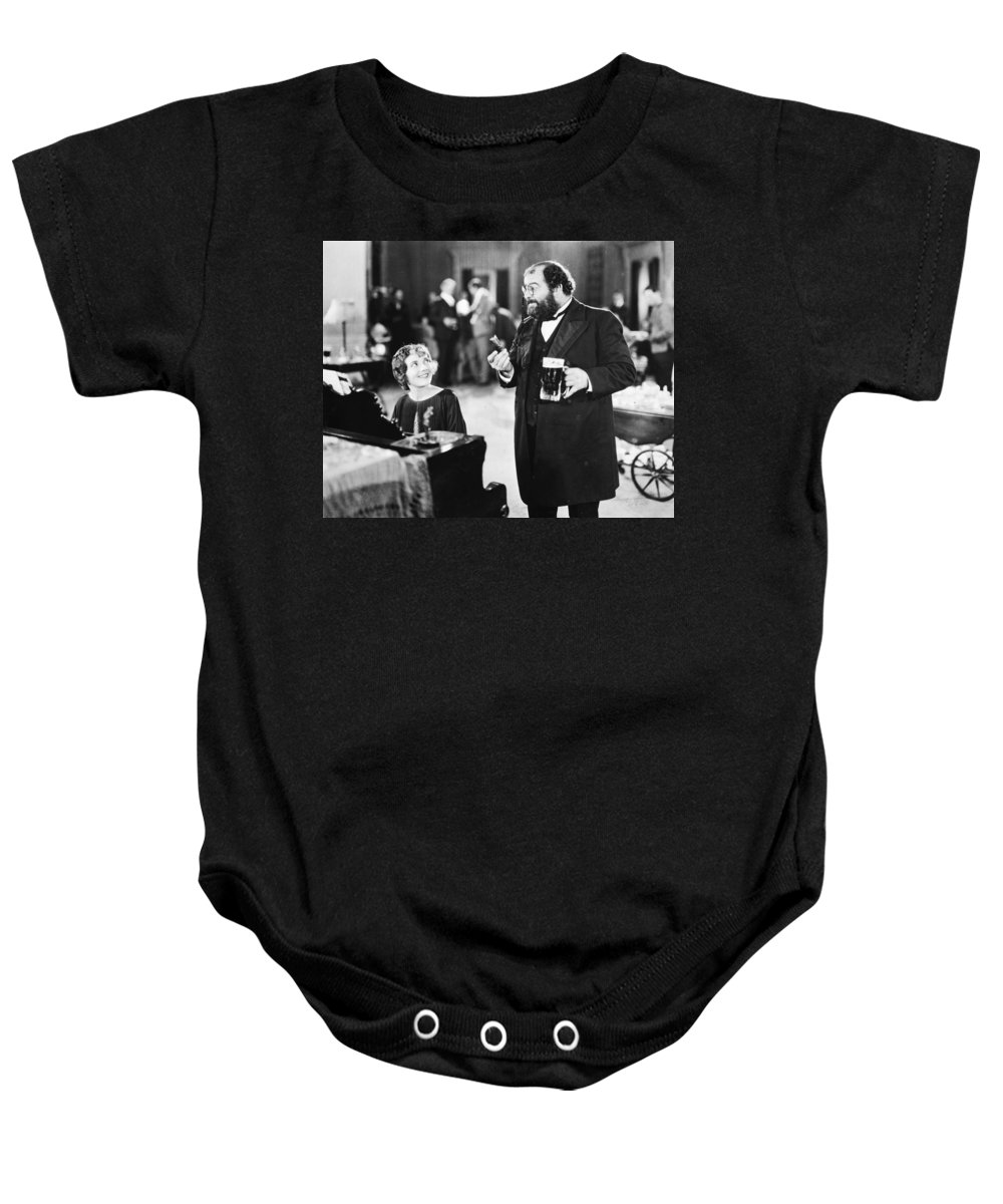 -drinking- Baby Onesie featuring the photograph Silent Film Still: Drinking by Granger