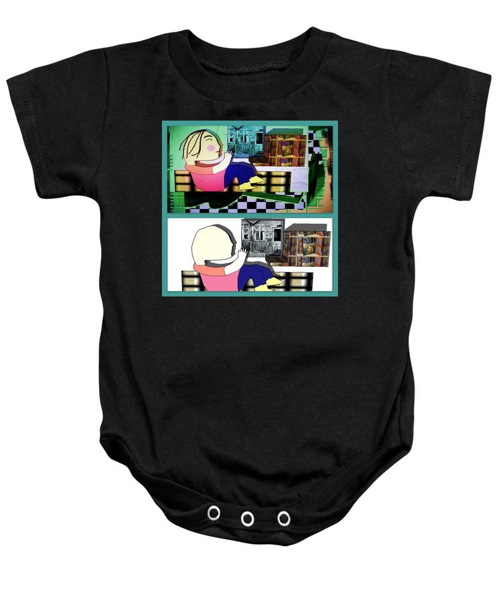 Expressionism Baby Onesie featuring the digital art Untitled by Ana Johnson