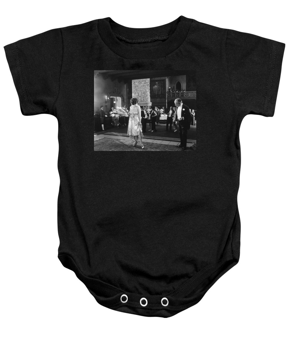 -ecq- Baby Onesie featuring the photograph Silent Still: Man & Woman by Granger