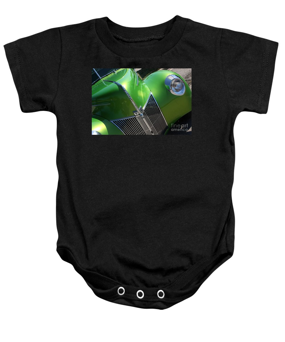 1940 Baby Onesie featuring the photograph 40 Ford - Grill Angle-8659 by Gary Gingrich Galleries