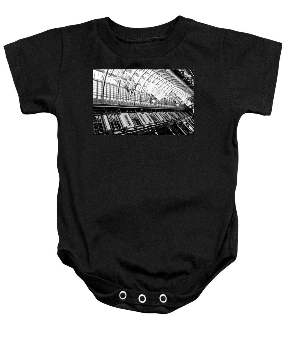 Leadenhall Baby Onesie featuring the photograph Leadenhall Market London by David Pyatt