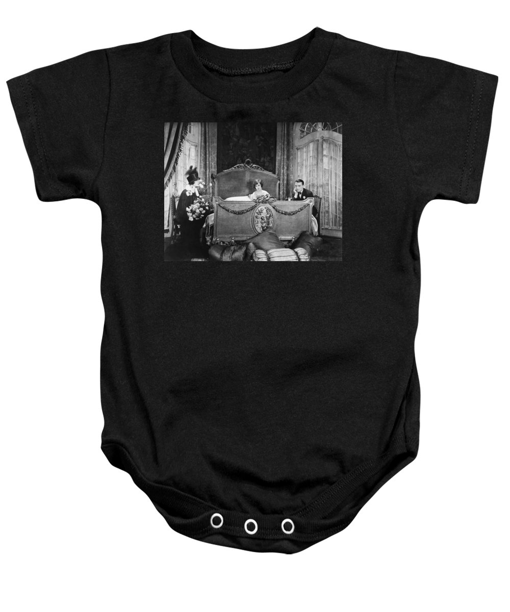 -bedrooms- Baby Onesie featuring the photograph Silent Still: Bedroom by Granger