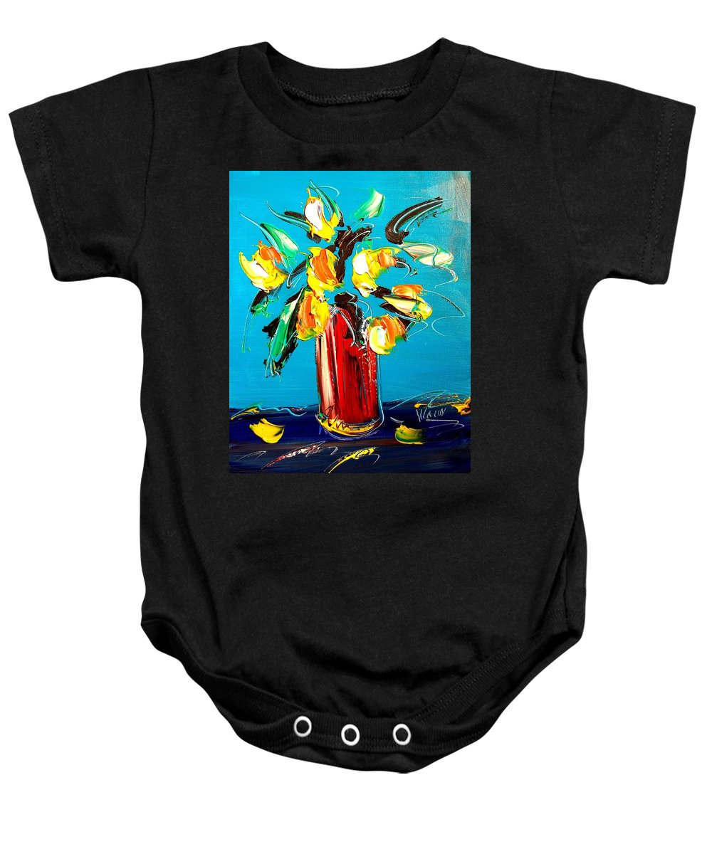 Baby Onesie featuring the painting Tulips by Mark Kazav