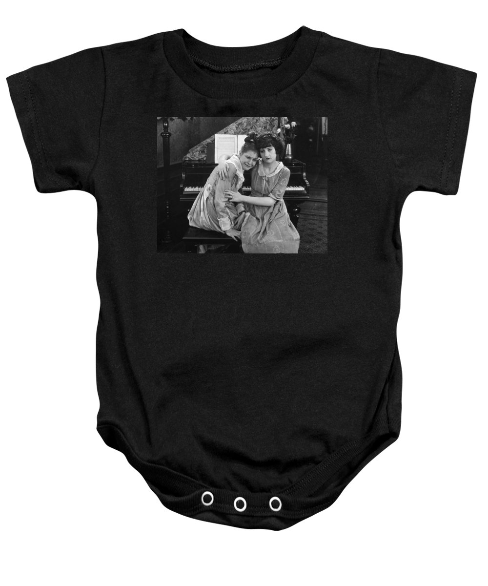 -damsel In Distress- Baby Onesie featuring the photograph Damsel In Distress by Granger