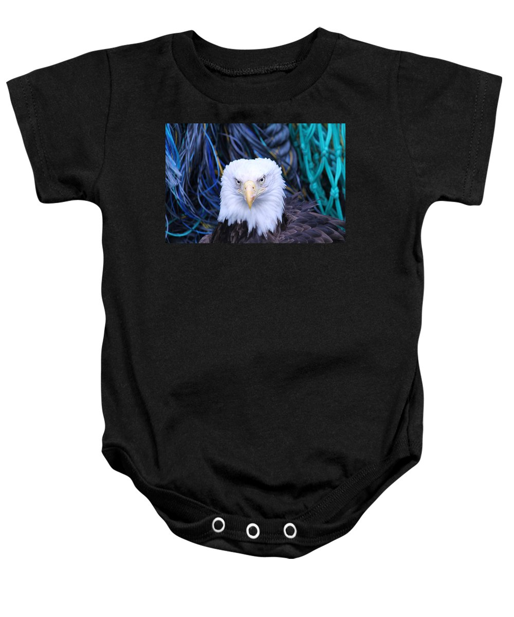 Soaring Baby Onesie featuring the photograph Bald Eagle by Dean Gribble