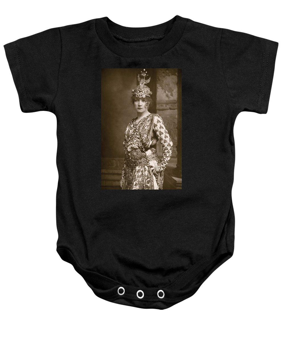 1890 Baby Onesie featuring the photograph Sarah Bernhardt (1844-1923) by Granger