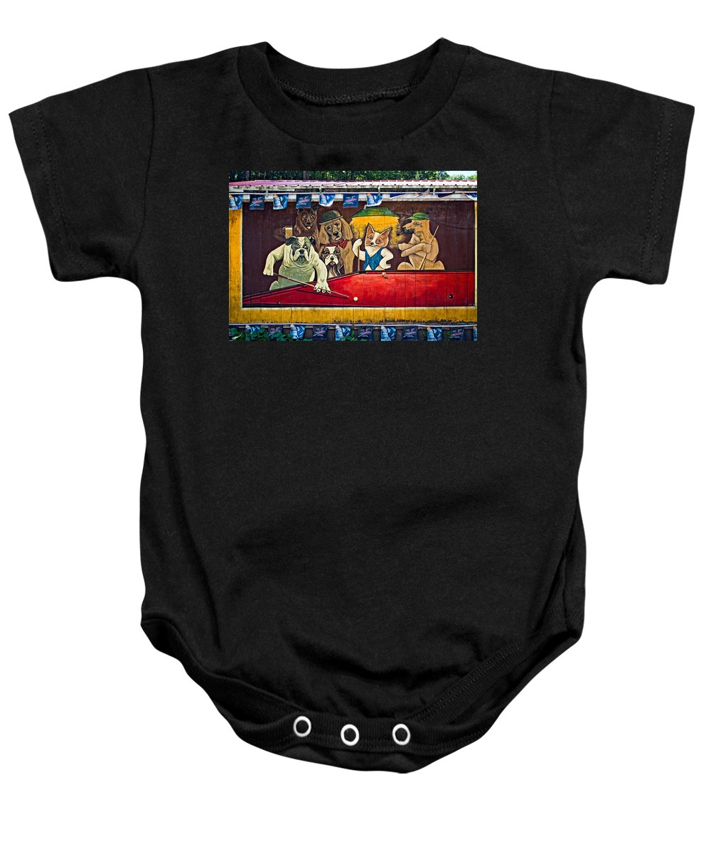 West Virginia Baby Onesie featuring the photograph 8 Ball And Beer by Steve Harrington
