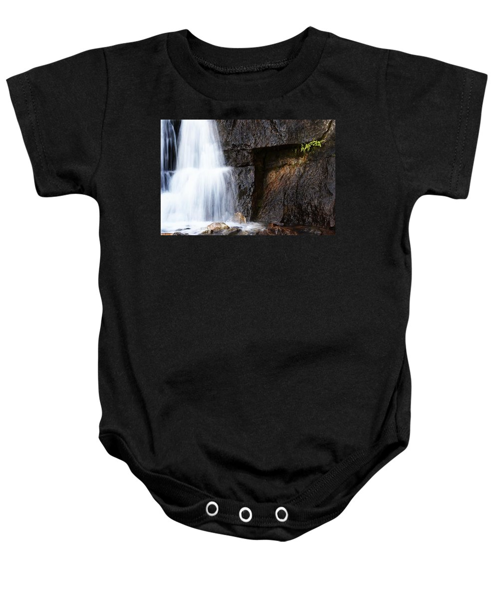 Outdoors Baby Onesie featuring the photograph A Beautiful Waterfall by Chris Knorr