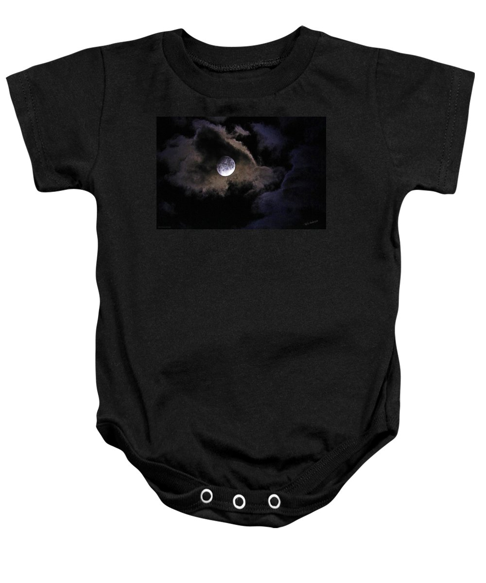 Moon Baby Onesie featuring the photograph A Magical Moon by Mick Anderson