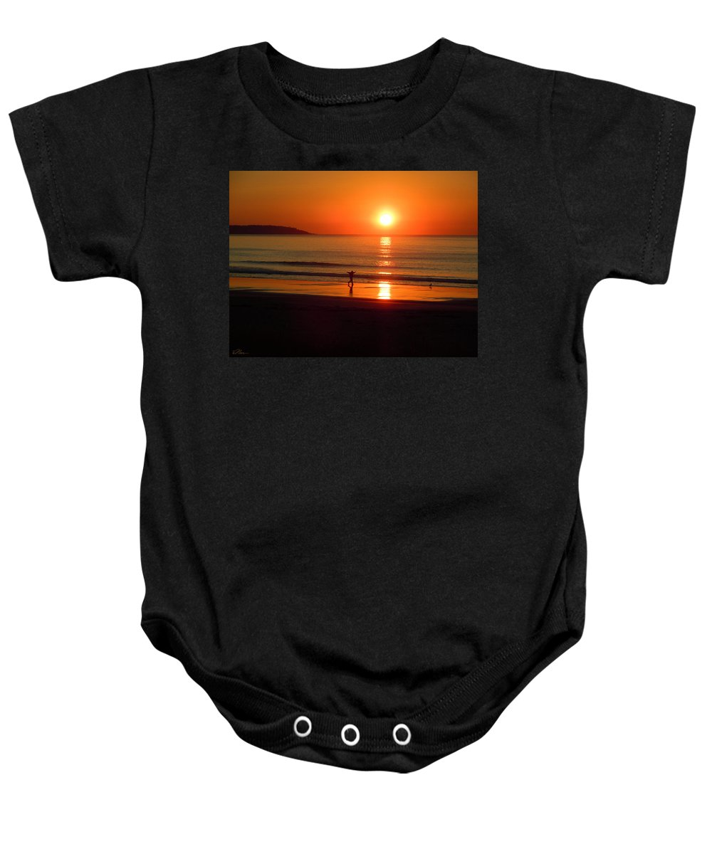Sun Baby Onesie featuring the photograph A New Day by Nancy Griswold