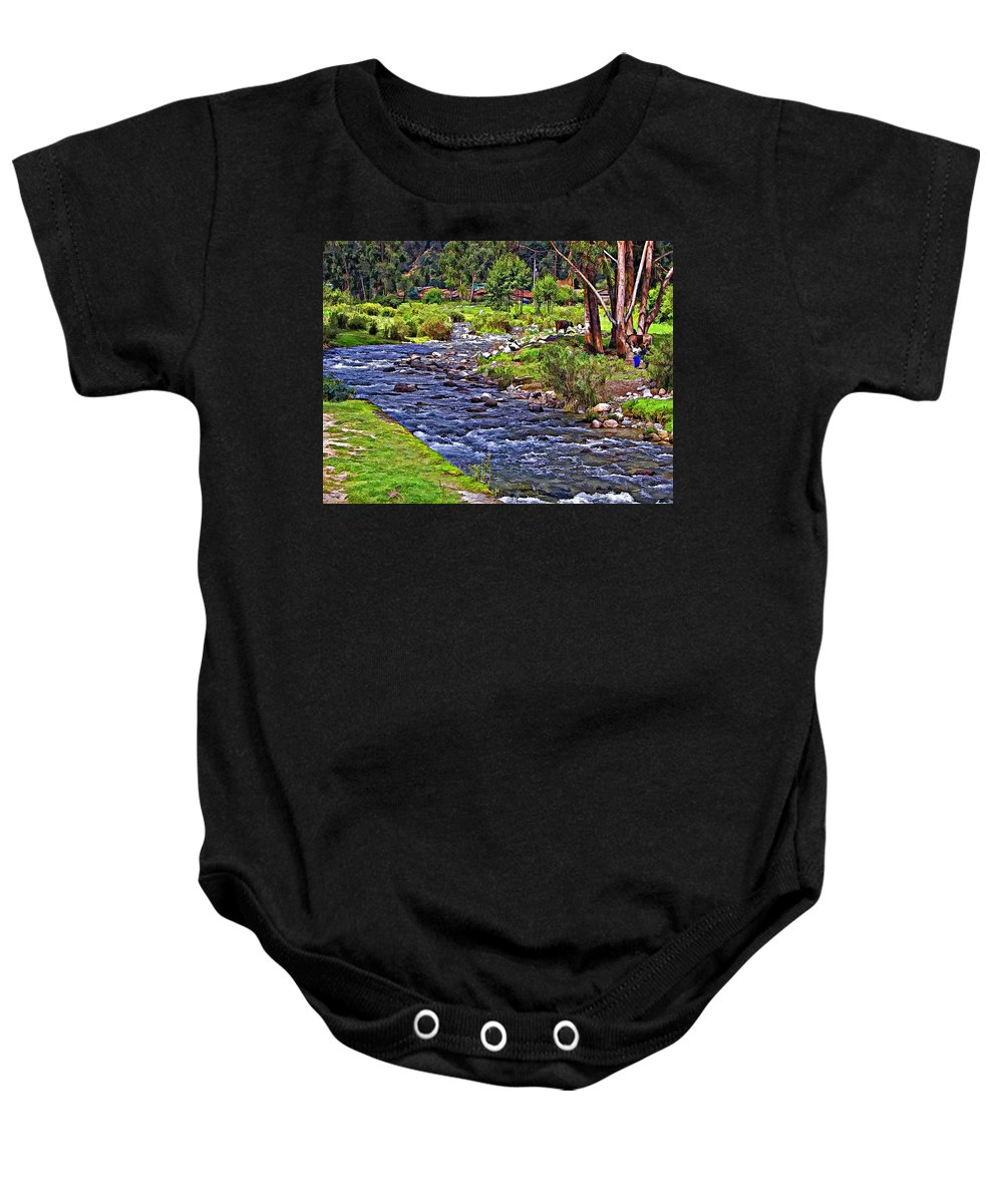 Peru Baby Onesie featuring the photograph A Place Without Time by Steve Harrington