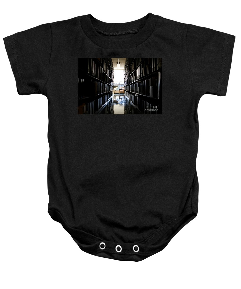 Bloom Baby Onesie featuring the photograph A Quiet Place To Work by Jannis Werner