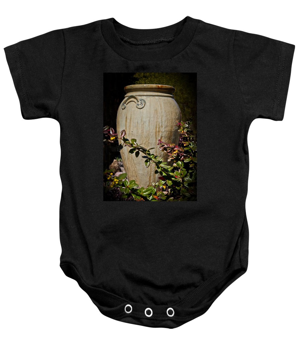 Vase Baby Onesie featuring the photograph A Taste Of Italy by Athena Mckinzie