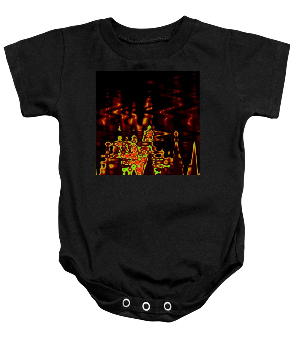 Baby Onesie featuring the digital art Abstract Fractals 2 by Steve K