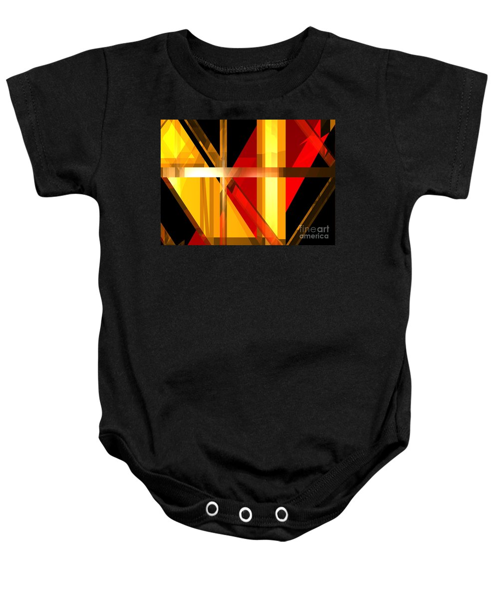 Abstract Baby Onesie featuring the digital art Abstract Tan 7 by Russell Kightley