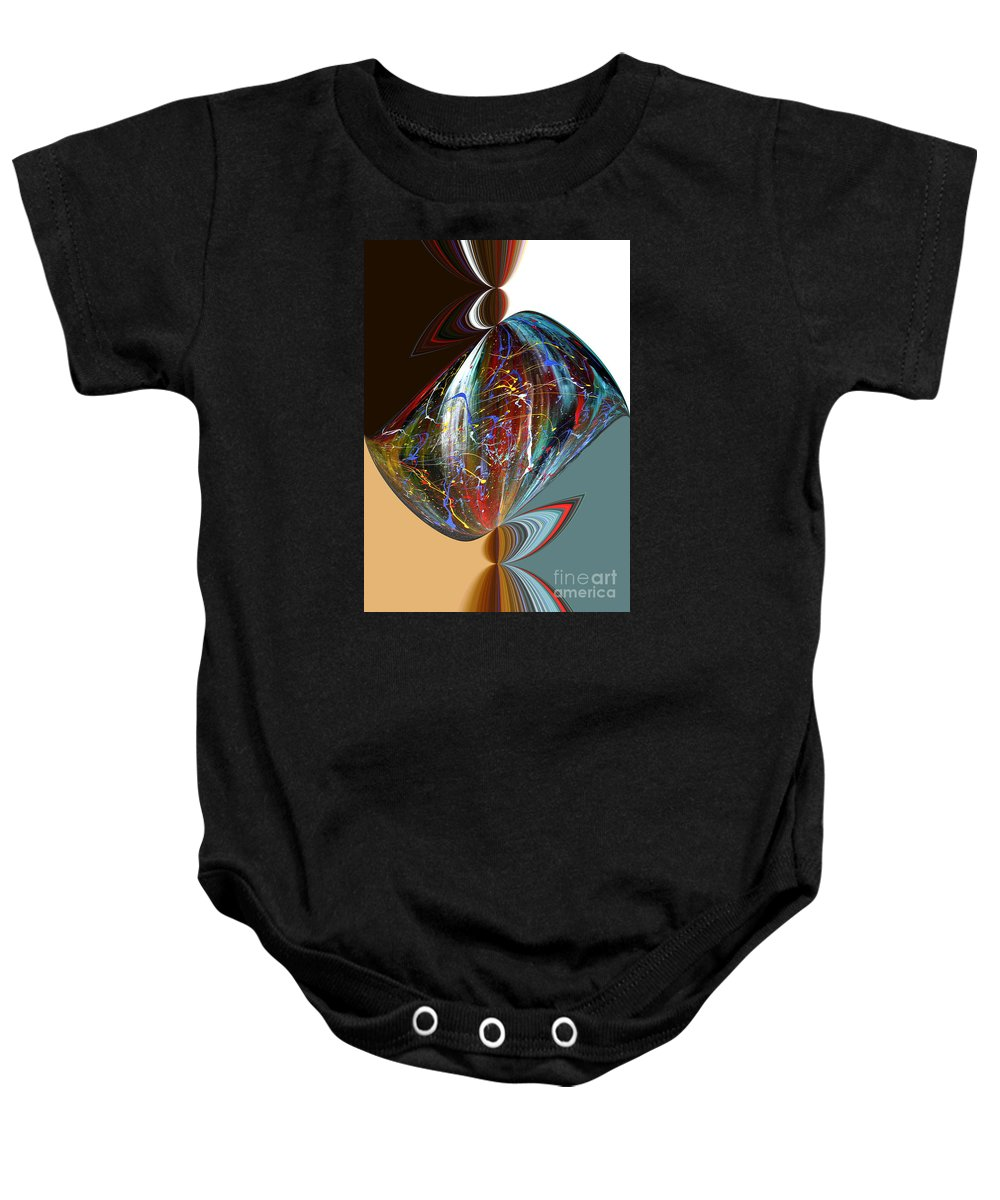 Abstract Baby Onesie featuring the digital art Abstract2 by Arturas Slapsys