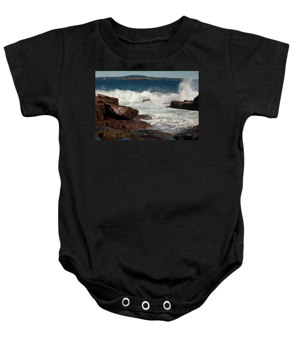 acadia National Park Baby Onesie featuring the photograph Acadian Shore by Paul Mangold