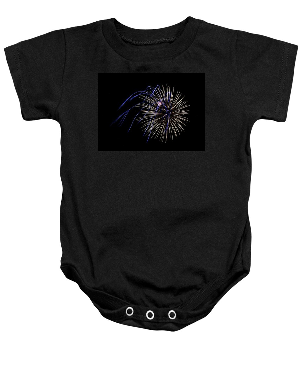 Bill Pevlor Baby Onesie featuring the photograph Accents Of Blue by Bill Pevlor