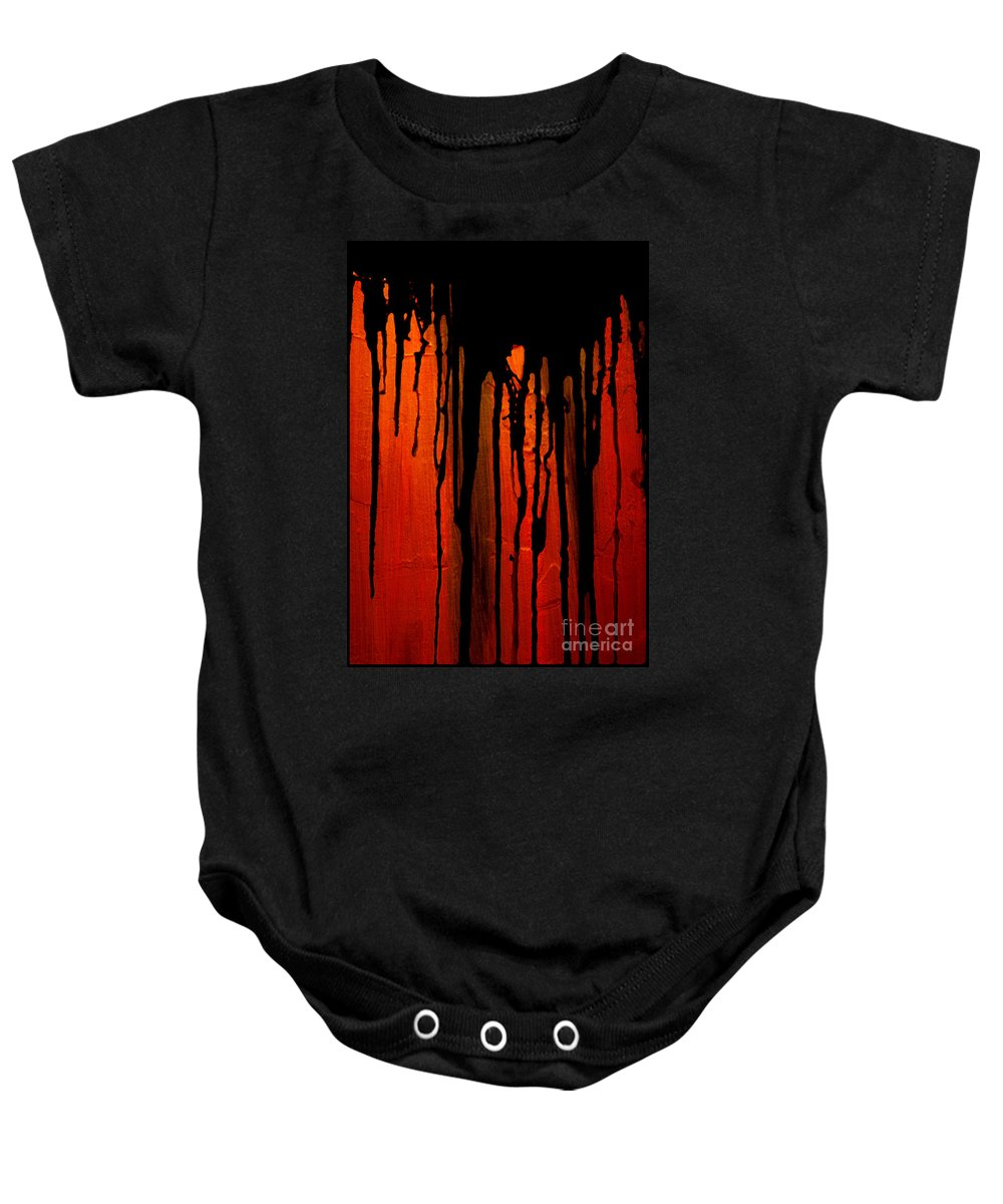 Acid Rain Baby Onesie featuring the painting Acid Rain by Bruce Stanfield