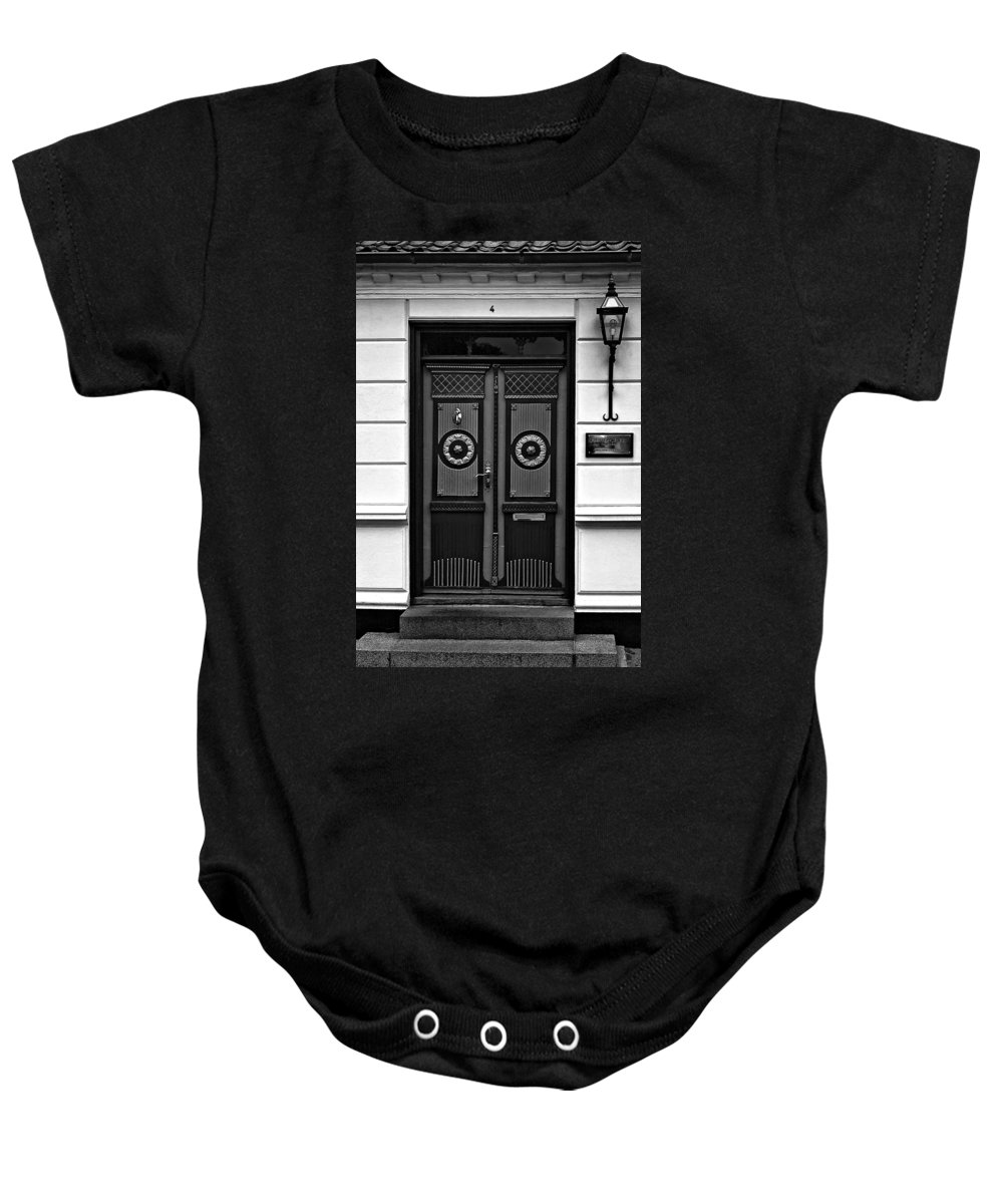 Aeroskobing Baby Onesie featuring the photograph Aeroskobing Monochrome by Steve Harrington